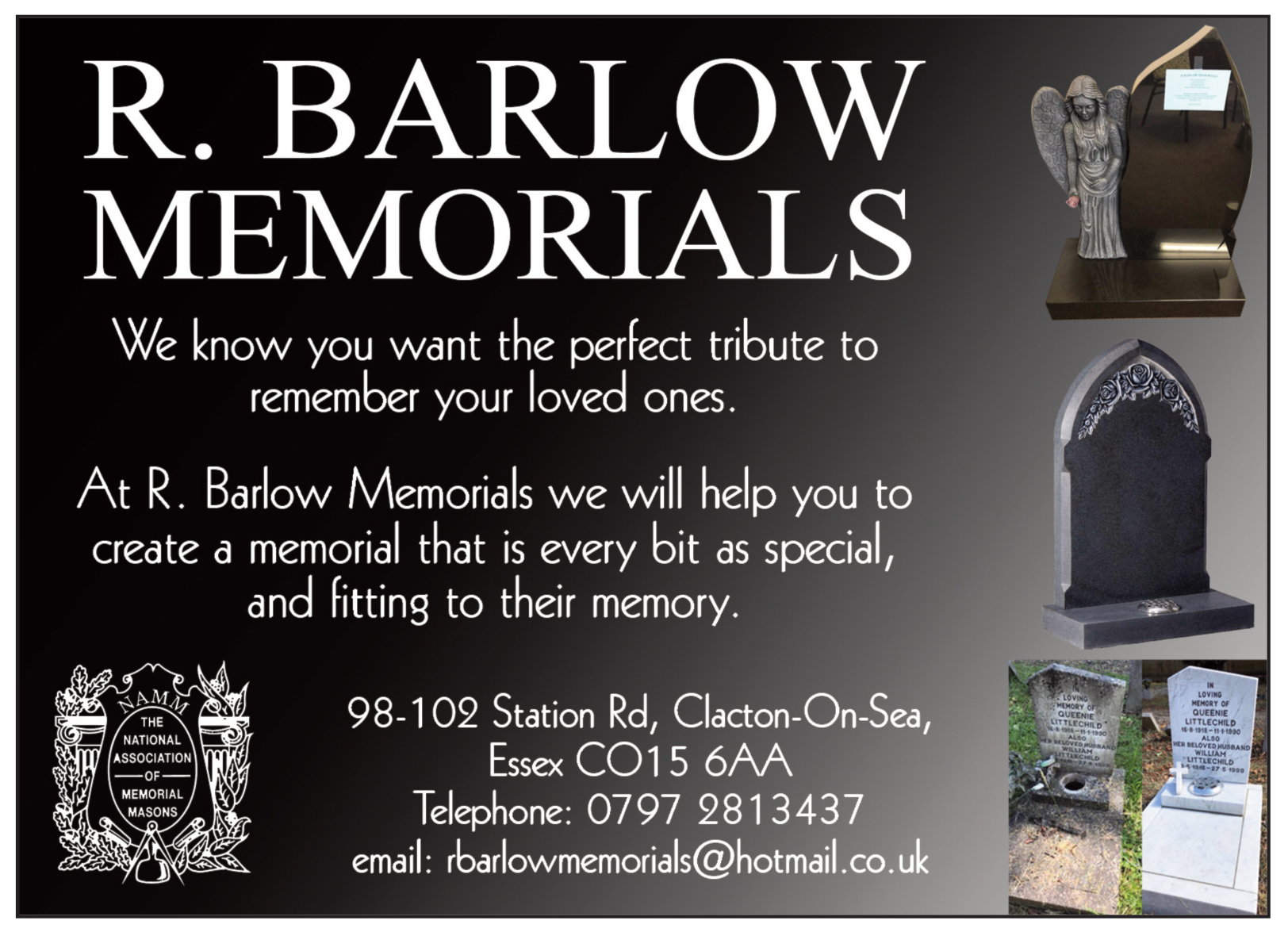 R. Barlow Memorials